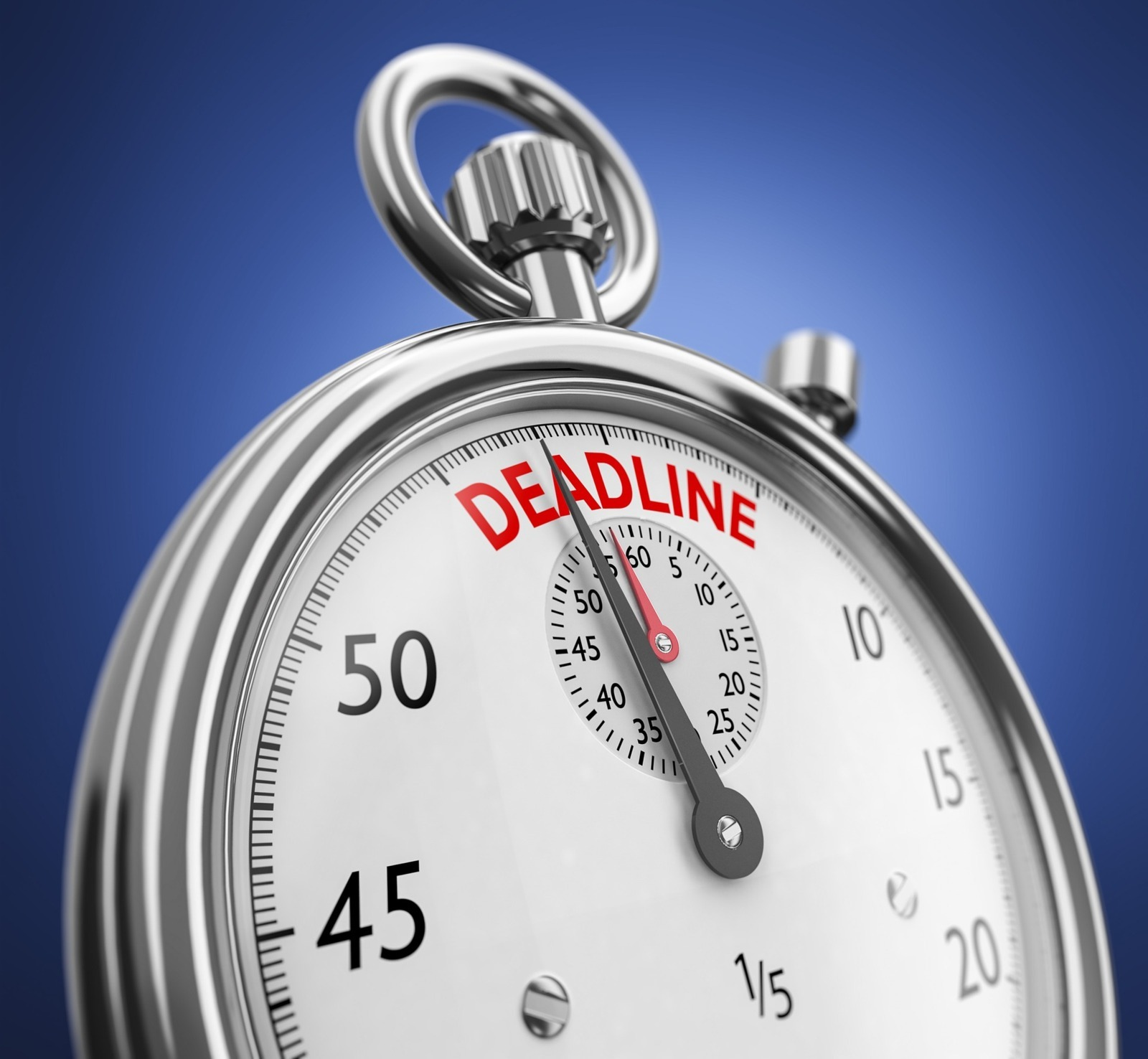 A timer showing a deadline