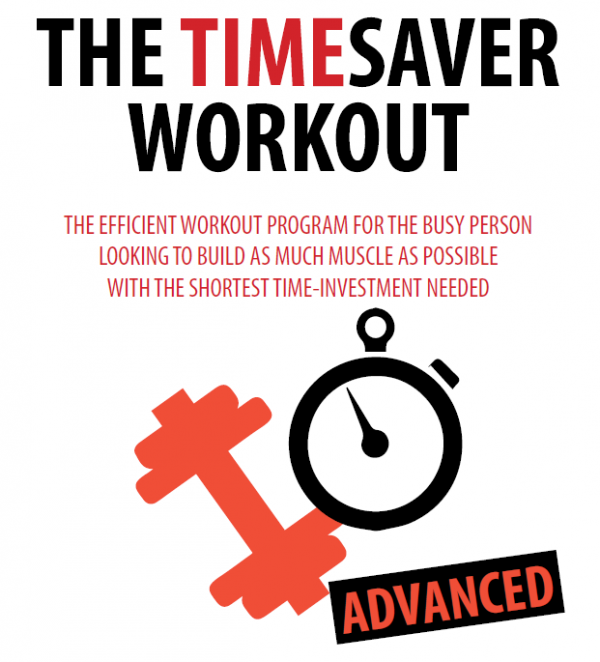 Time Saver Workout for advanced users save time at the gym
