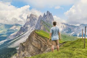 Man On A mountain
